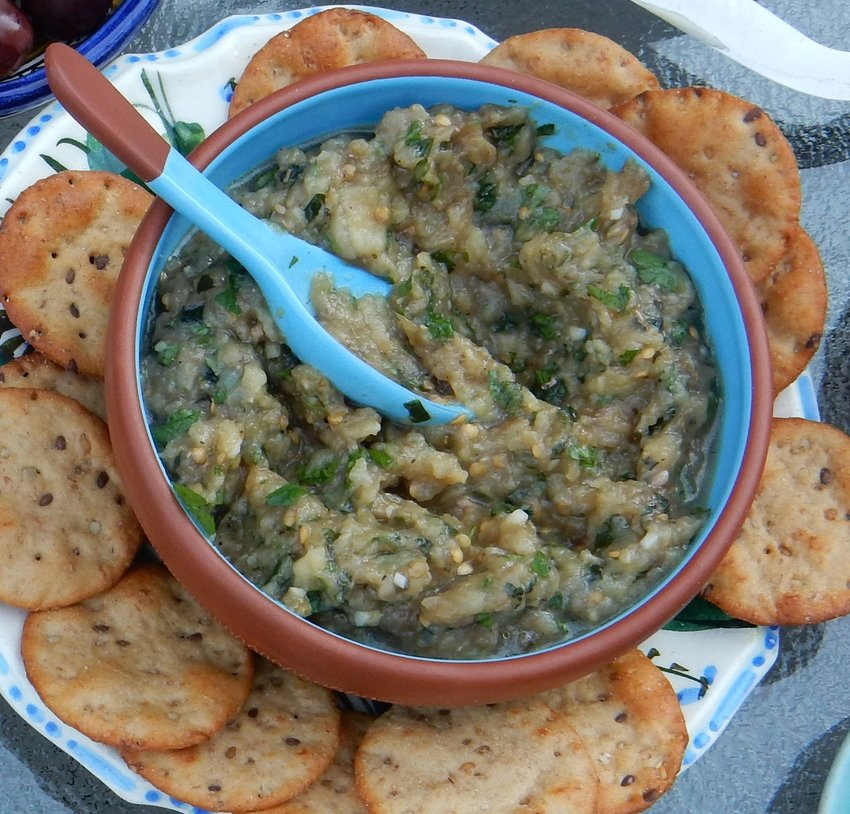 Eggplant dip in the Mediterranean style
