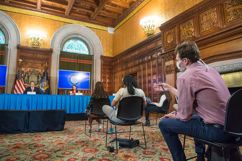 Governor Andrew Cuomo delivers his daily Press Briefing during COVID-19, Coronavirus pandemic