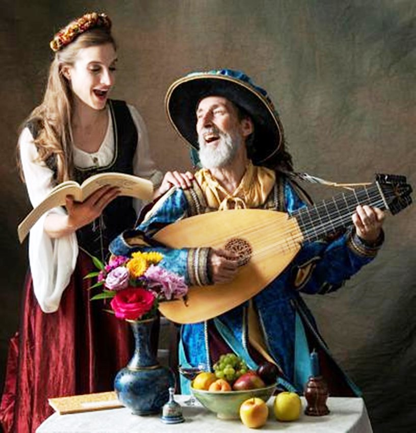 Olivia Bentzen, left, and lutist/baritonist Garald Farnham will perform songs from the Renaissance era as The Good Pennyworths.