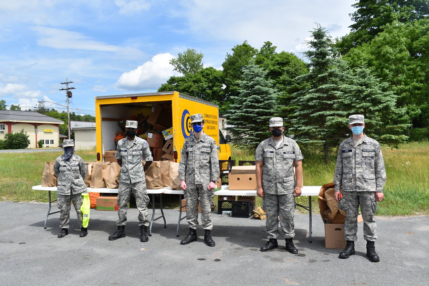 Civil Air Patrol Cadets worked with Action Toward Independence of Monticello and Ulster County Community Action Committee to help distribute food to those in need.