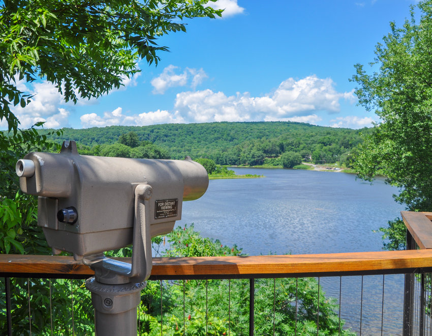 Famous for its magnificent views and historic ambiance, Narrowsburg, NY is home to a healthy population of bald eagles, often spotted from the deck overlooking the beautiful Delaware River.