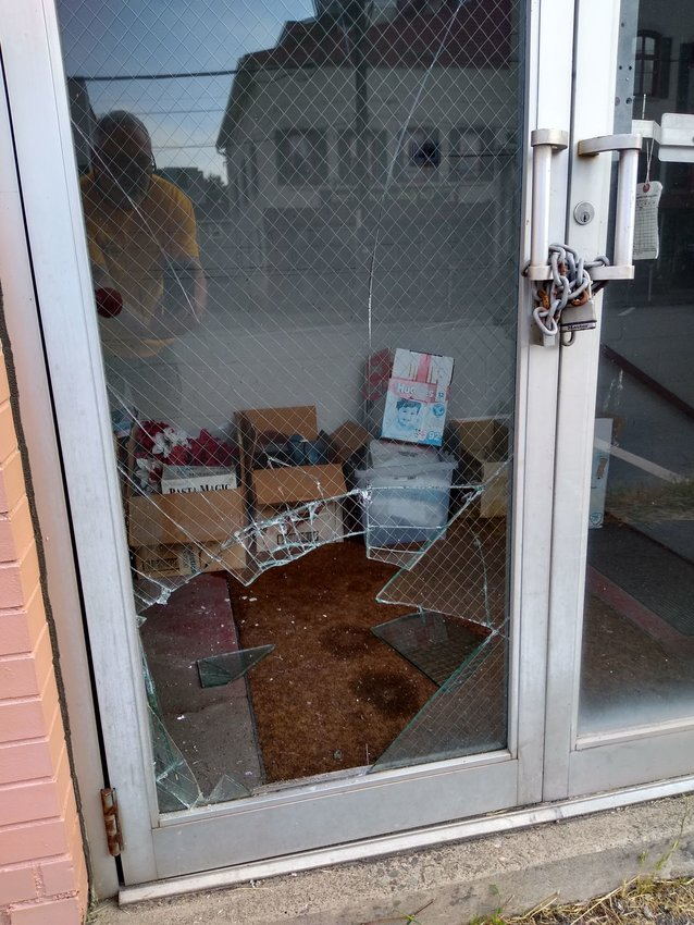 Over Labor Day weekend, somebody shattered the glass door on the side of Mommy and Me Consignments in Honesdale.