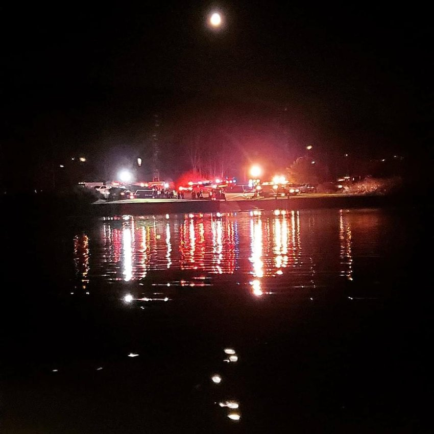 A search and rescue scene was set up at DEC landing in Narrowsburg on October 31, following a report of an overturned kayak, with lifejacket and paddle, floating downriver.