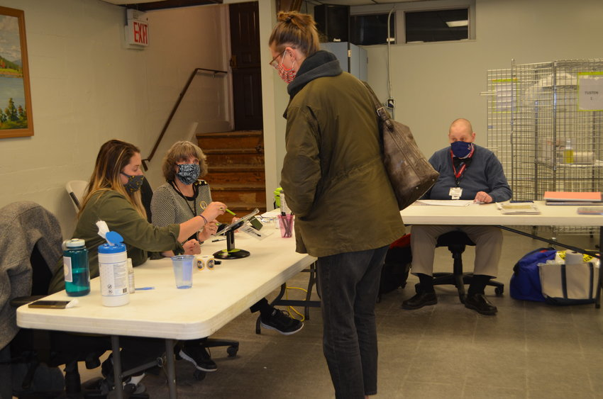 Voting in the Town of Tusten was orderly and uncrowded.