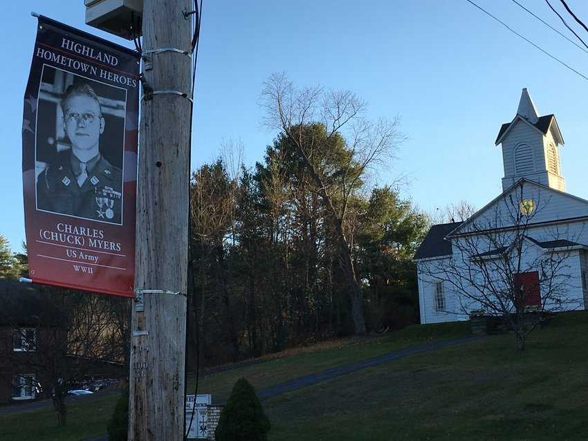 Chuck Meyers leads the way as the first Hometown Hero to be proudly displayed in the Town of Highland