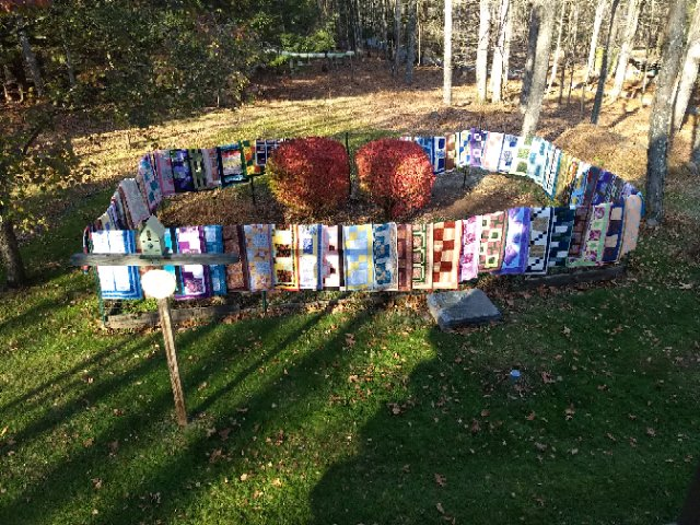 Sixty quilts were made by the Wednesday Club to be included in the holiday boxes given out by the Narrowsburg Ecumenical Food Pantry for Thanksgiving.