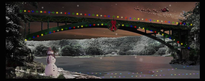 My friend Daniel and I created this in photoshop for a party several years ago. It's not too soon for something so blatantly holiday themed, is it?