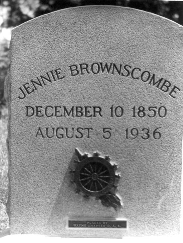 Jennie Brownscombe, Wayne County's most famous painter, lived until 1936 and was buried in Honesdale's Glen Dyberry Cemetery.