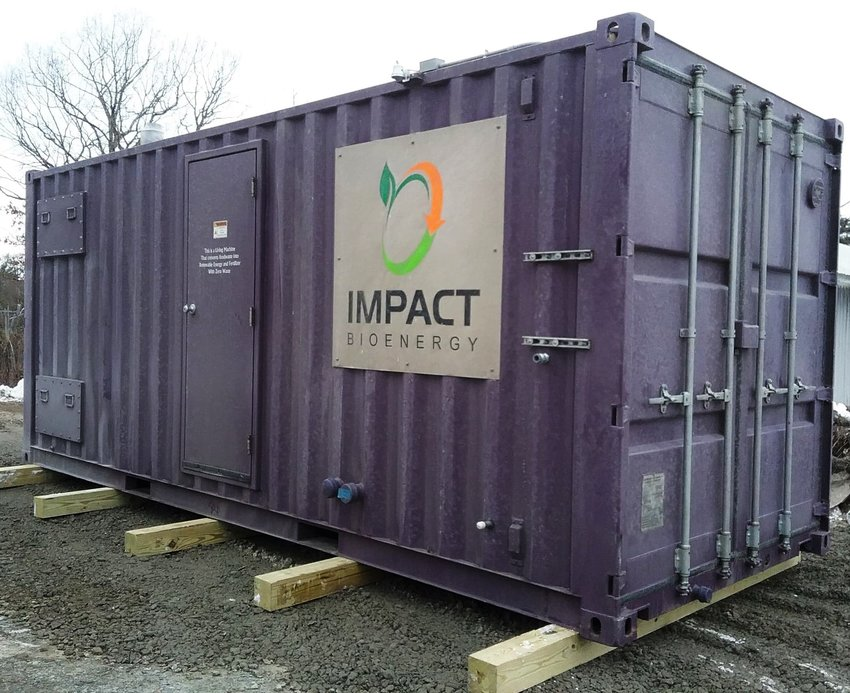 The food digester will convert food scraps and wastes into plant food and biogas.