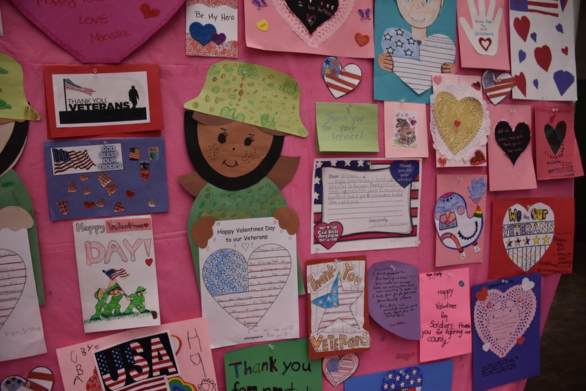 "Last year's ""Valentines for Vets"" exhibit."