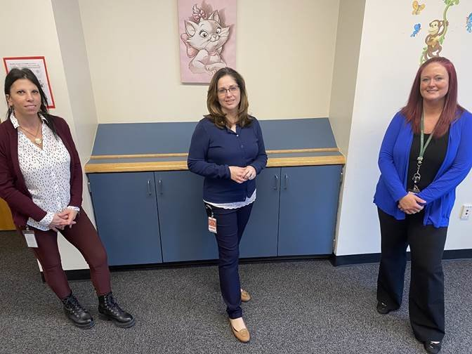 Child protective services case supervisor Anna Nelson, left, community health nurse Janna Walter and director of services Danielle Mann were vital to implementing the services now provided to mothers using opioids and babies with Neonatal Abstinence Syndrome.