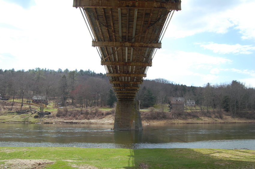 The Skinners Falls bridge has been closed since October 2019.