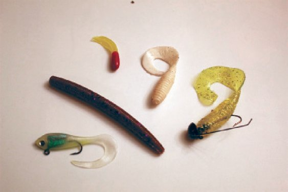 Soft plastic lures like these make big claims of biodegradability but are often quite the opposite.