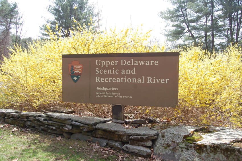 Salvatore's new office at Upper Delaware headquarters in Beach Lake, PA features a three-window view of the Delaware River in all its spring glory.
