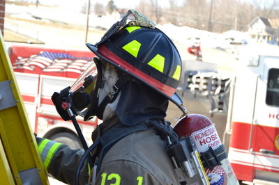 Twelve face pieces like this one will be purchased by Honesdale Hose Co. No. 1 with funds from a U.S. Assistance to Firefighters grant.