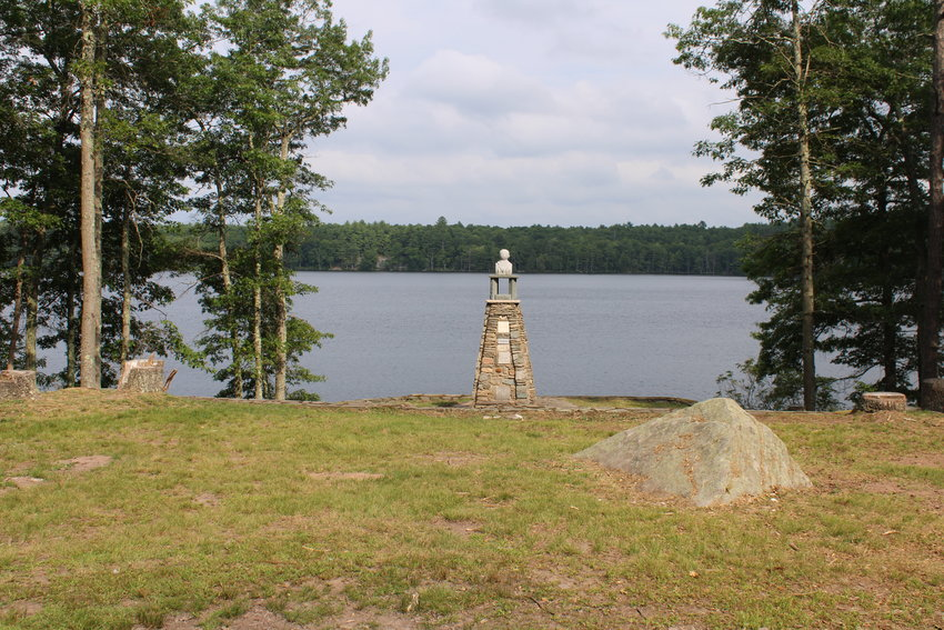 The Tower of Friendship Monument, overlooking the water.