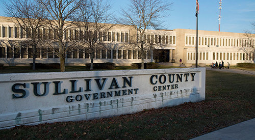 The Sullivan County Government Center in Monticello, NY