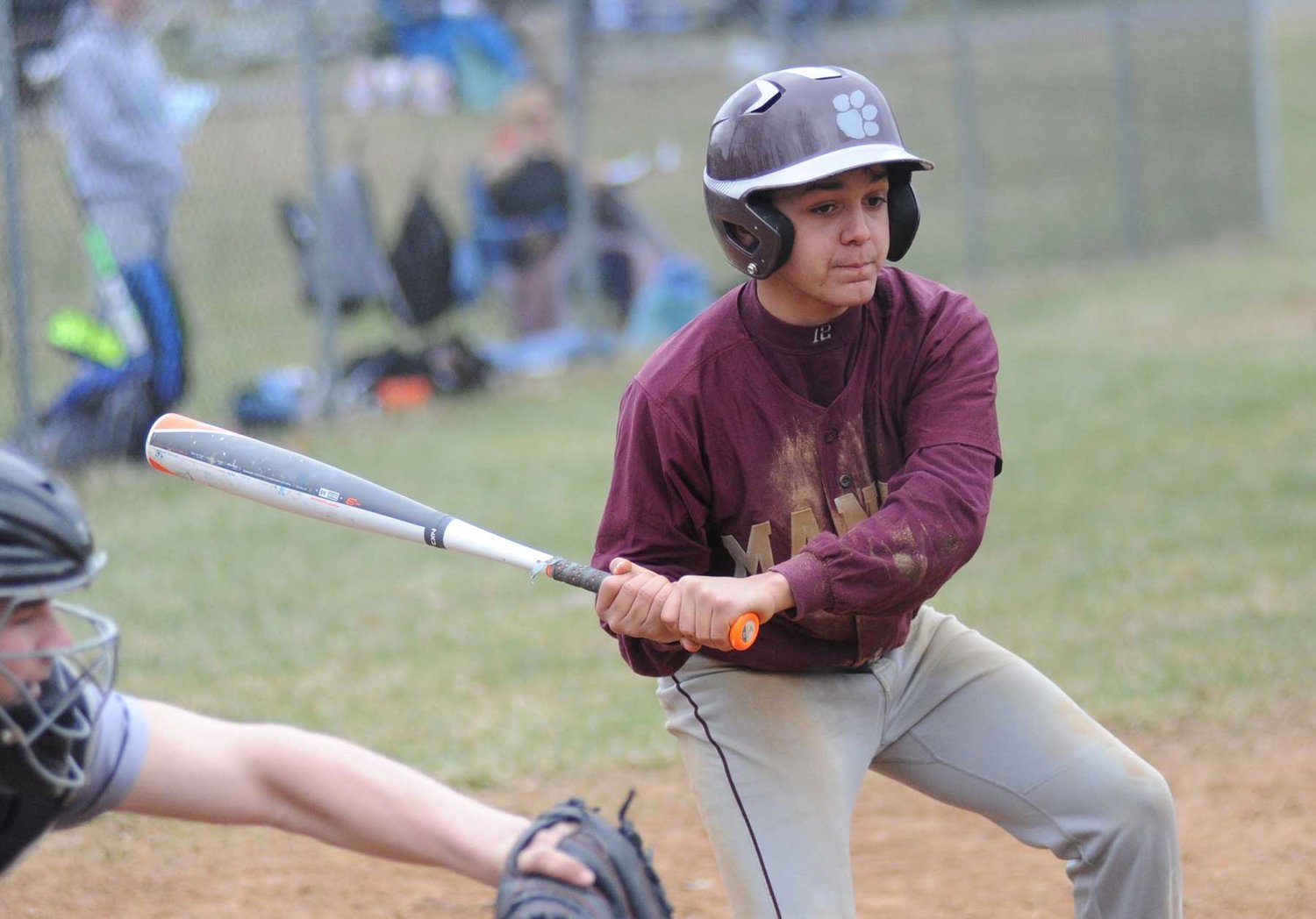 Wildcat unwinds: Manor's Peter Pagan at the plate