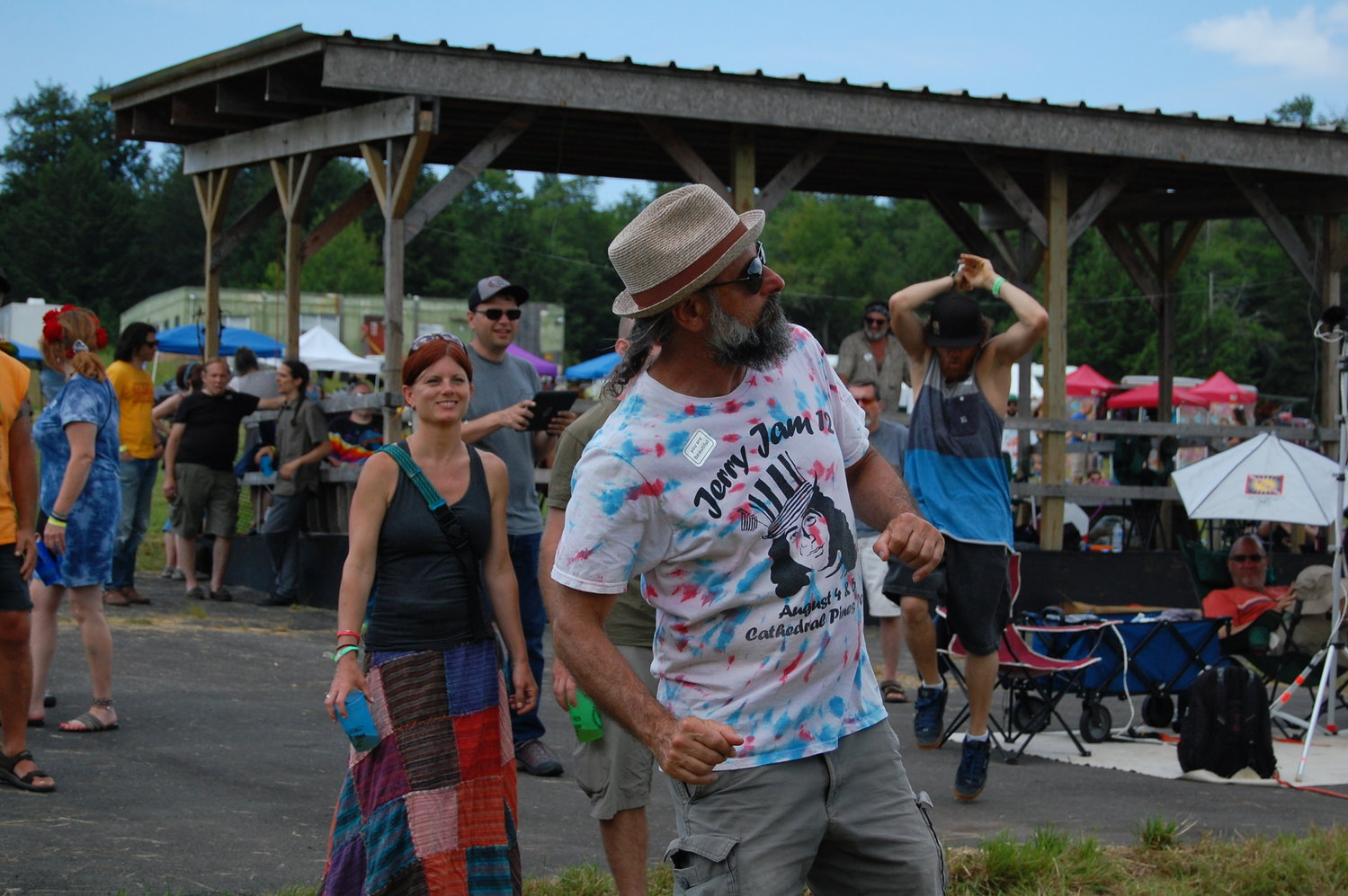 People flocked to Arrowhead Ranch in Parksville, NY this Fourth of July weekend to celebrate the Grateful Dead. The field was filled with grooving and grinning faces.