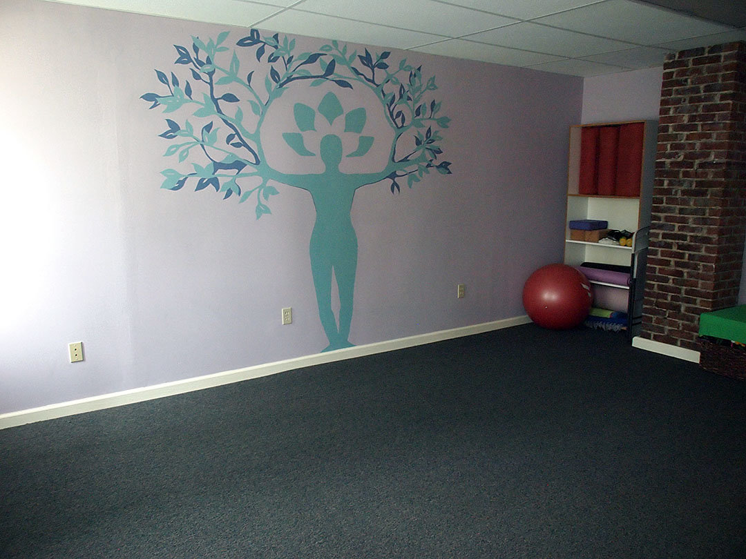 The studio space can be rented for yoga classes, workshops etc.
