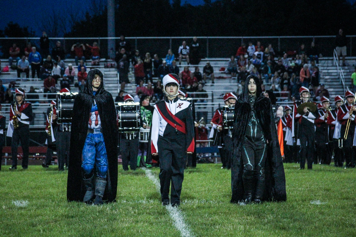 The introduction of the drum majors sets the stage for the rest of the show.