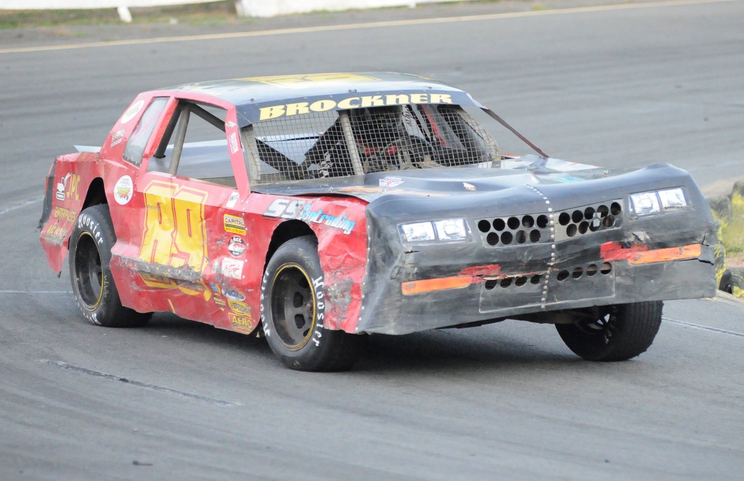 The heat is on. Ryan Brickner at speed in car #89 during an elimination heat.