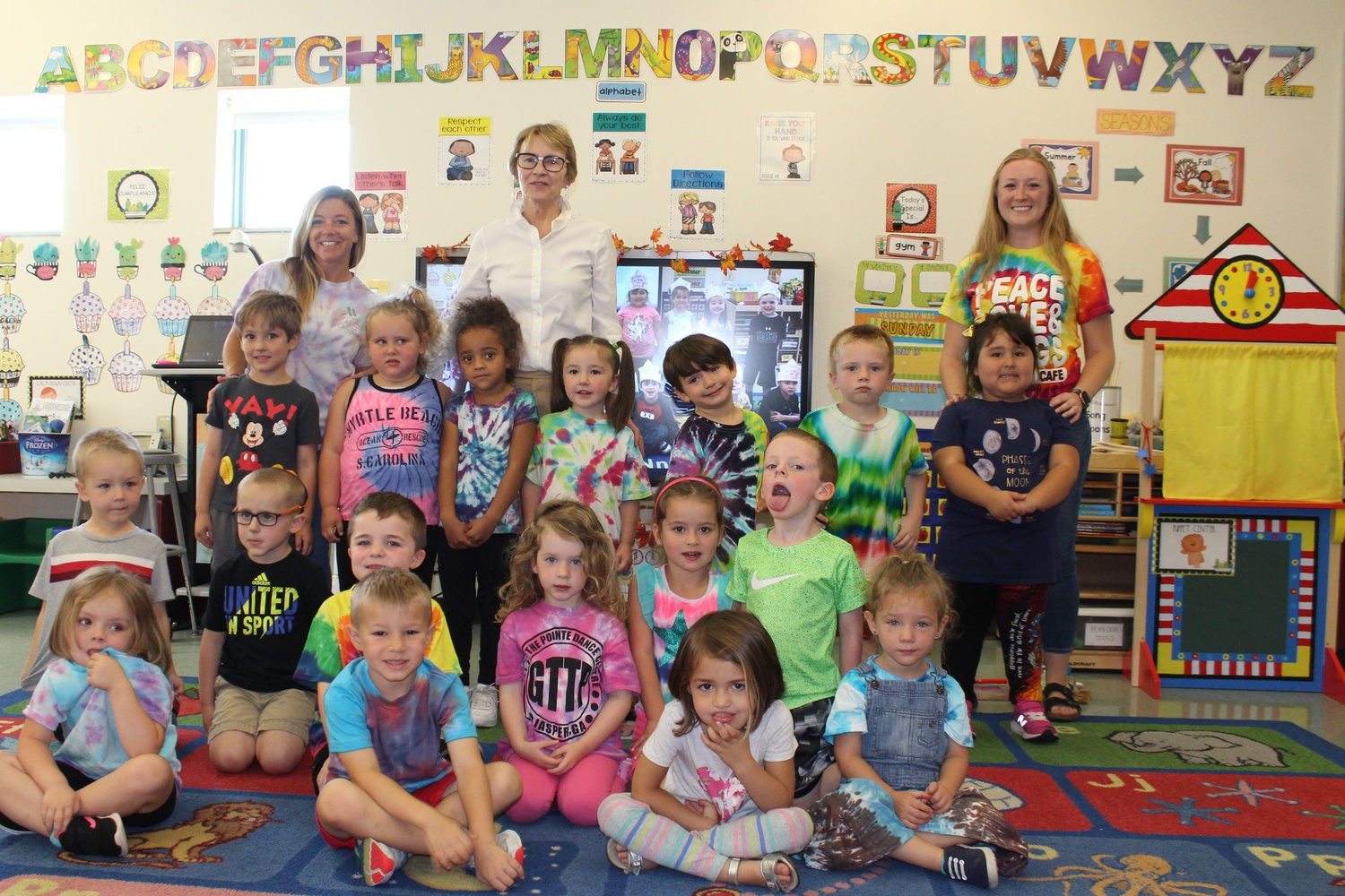 Assemblywoman Aileen Gunther met with Eldred Central School district students. The pre-Kindergarten class was among those who thanked her for channeling funds to the district for security upgrades and other uses.