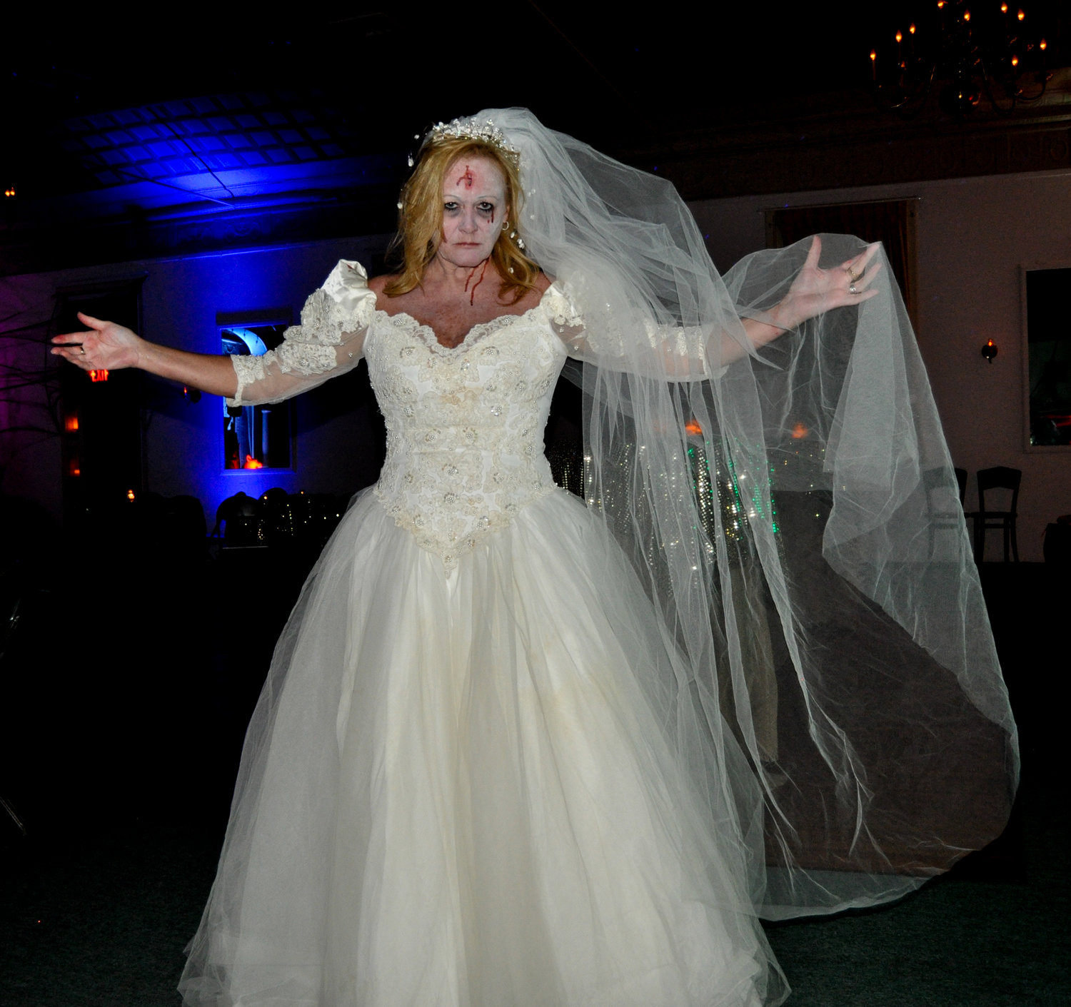 She may have been jilted at the altar and dead, but this bride managed to snag the coveted Best Female award at the Western Hotel's annual Halloween bash.