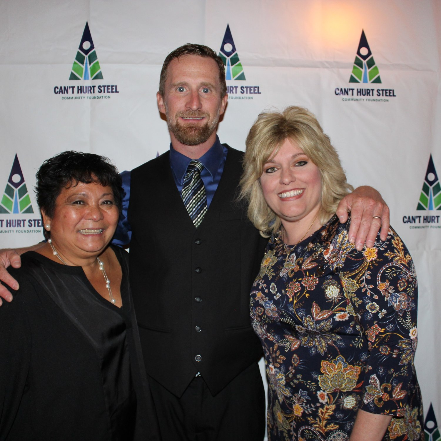 Honored at the Can't Hurt Steel Foundation gala were Cathy Daboul, left, Ryan Gillespie and Pam Kocher.