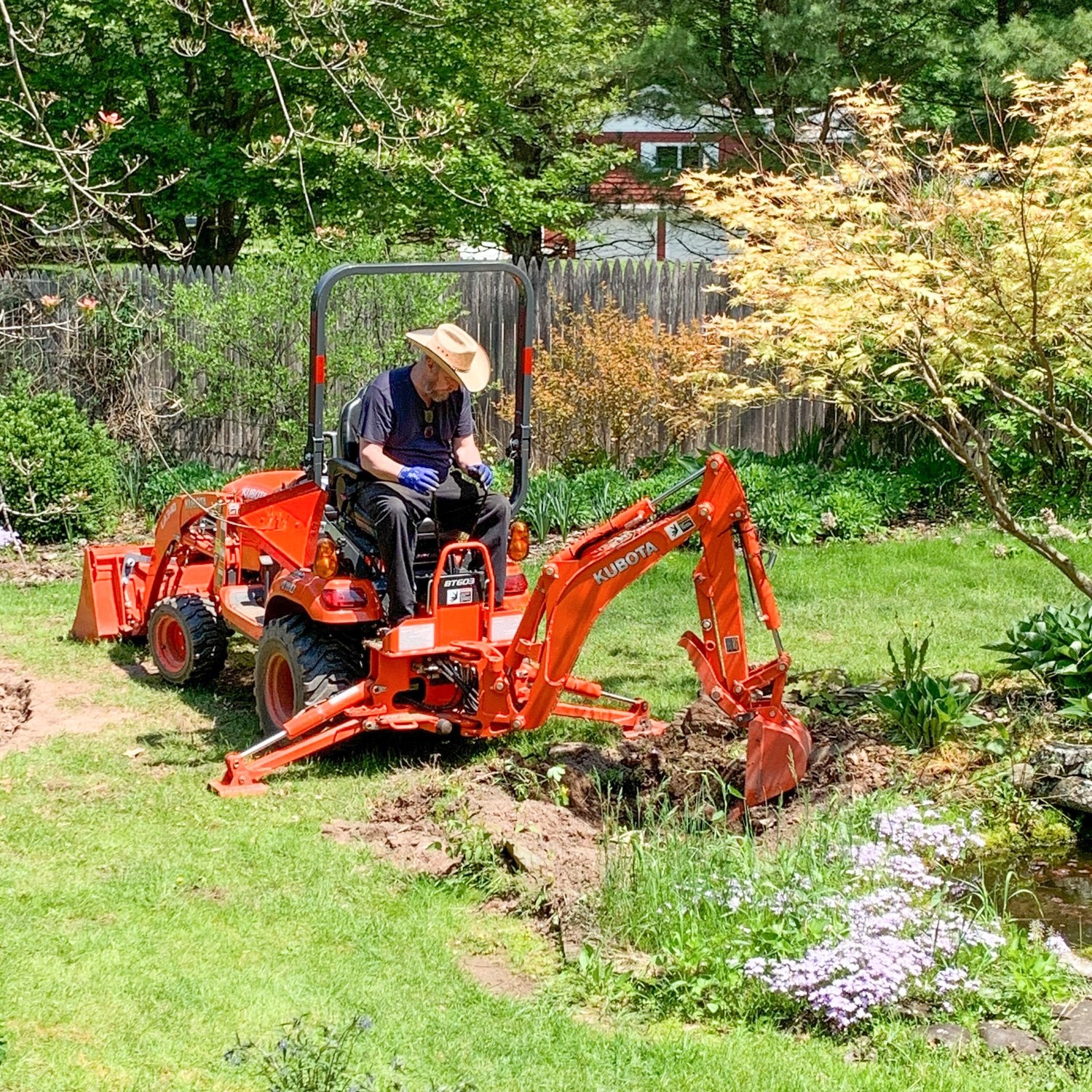 Campbell Ironworks in Hortonville has a Kubota BX23 for a number of tasks around the shop's property, and owner Norman Campbell calls it a game changer. He has taken down and put in fencing, taken out stumps, moved heavy stones around, and graded land for a walkway. Purchased at Marshall Machinery.