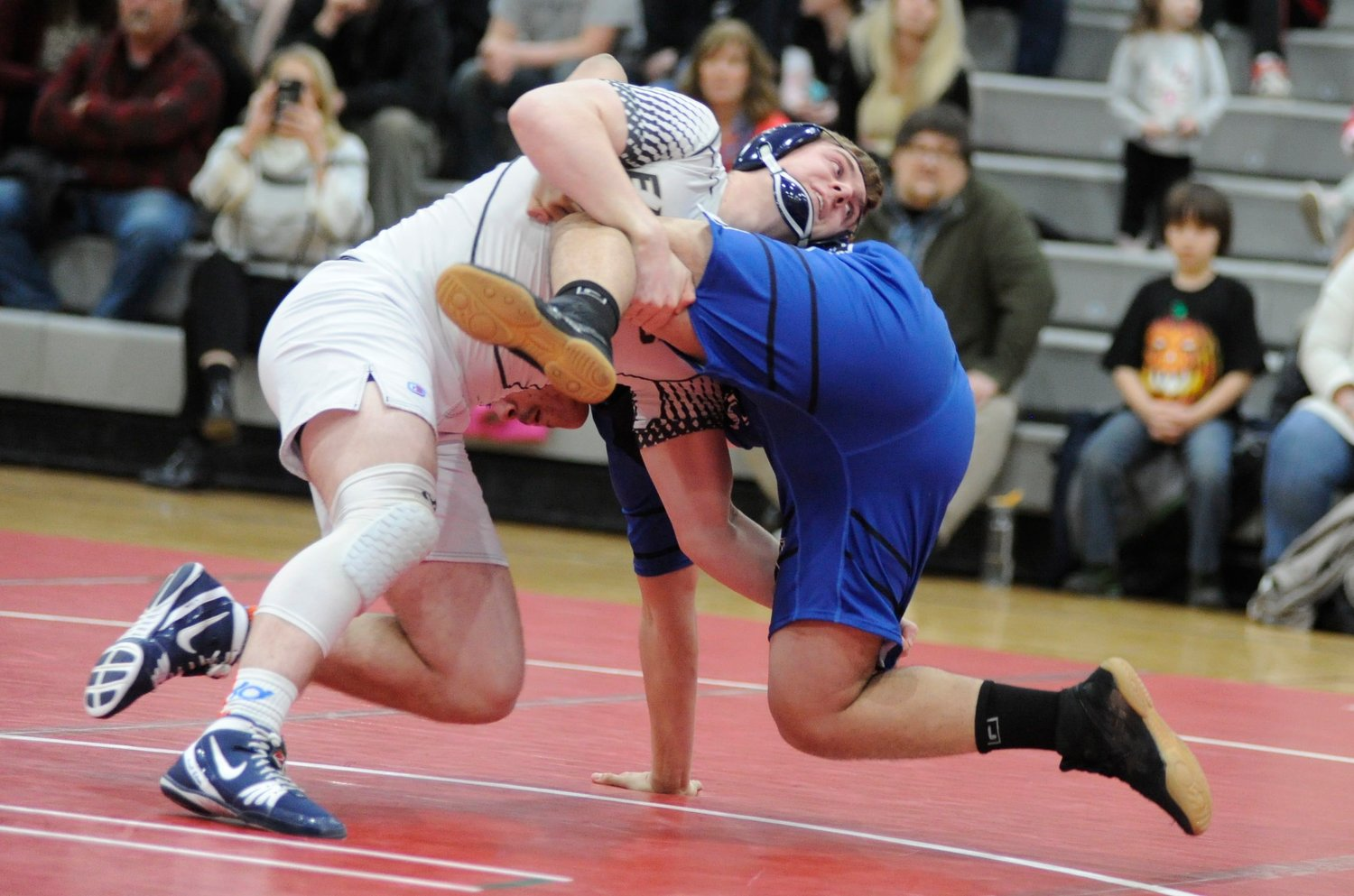 Spin cycle. Burke's Brendan Douthit defeated his opponent from Monticello.