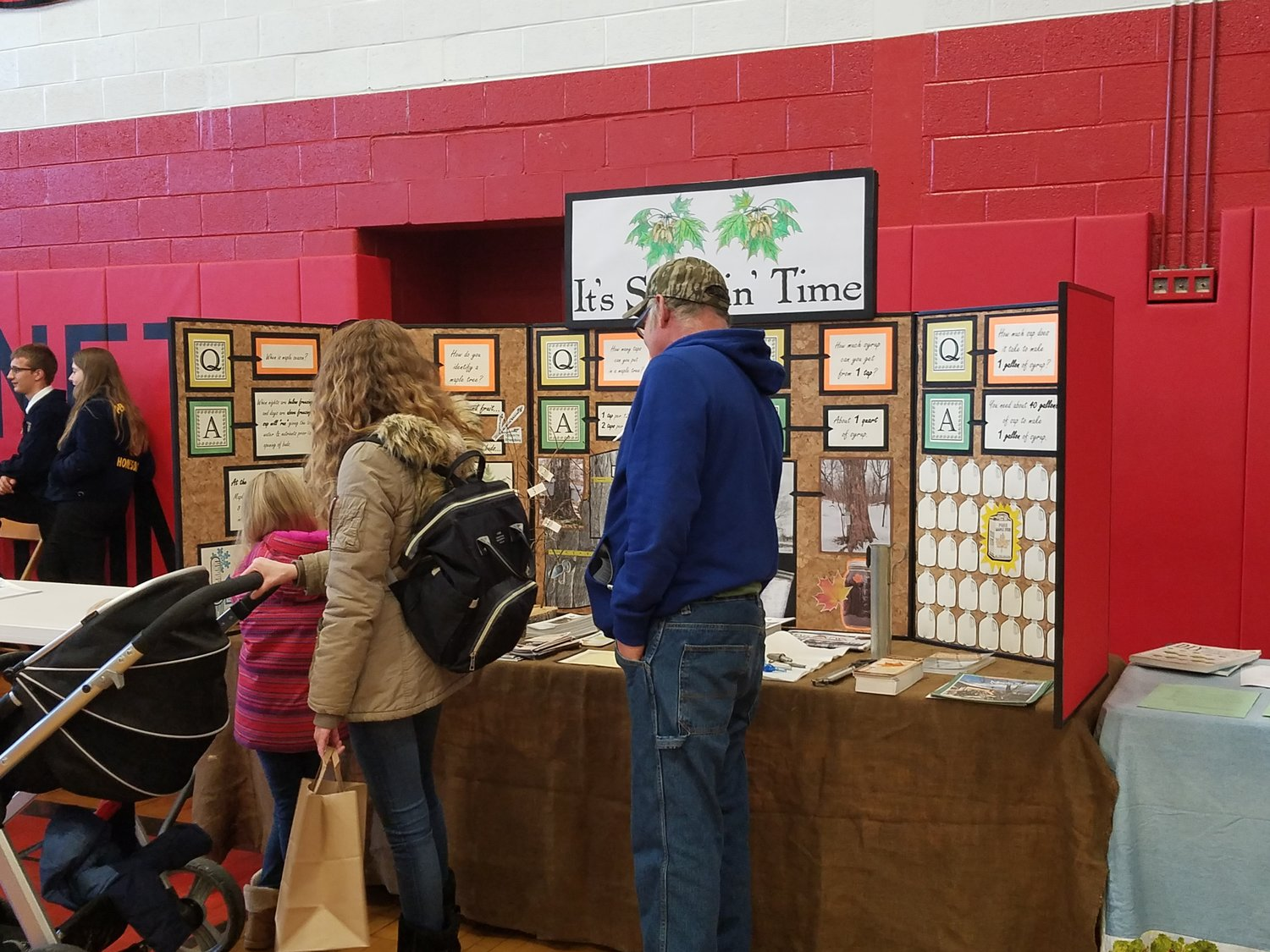 Families stopped at this booth to learn about collecting sap and some of the finer points of making Maple Syrup.