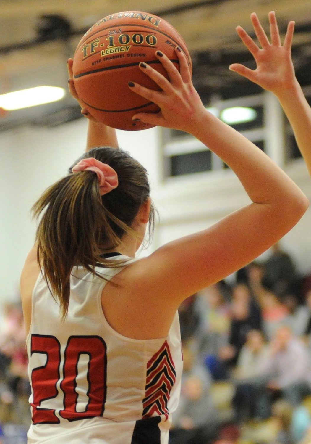 Lady Hornets senior co-captain Taylor Maxson scored 6 points in Honesdale's win over Wallenpaupack.