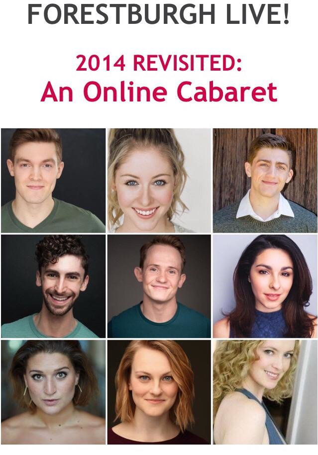 "Former Forestburgh Playhouse alums were excited to perform in the first of an ongoing cabaret series being presented weekly online as part of the ""75 and Thrive"" fundraising efforts to keep the shuttered theatre afloat until next year's 75th anniversary season"