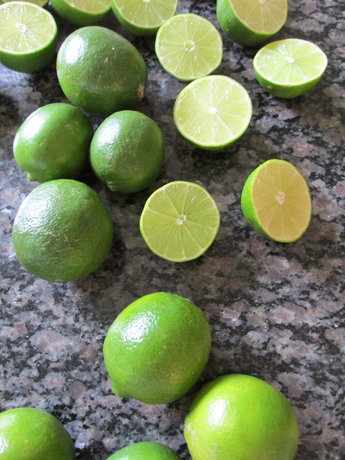 Juicing limes for margaritas.