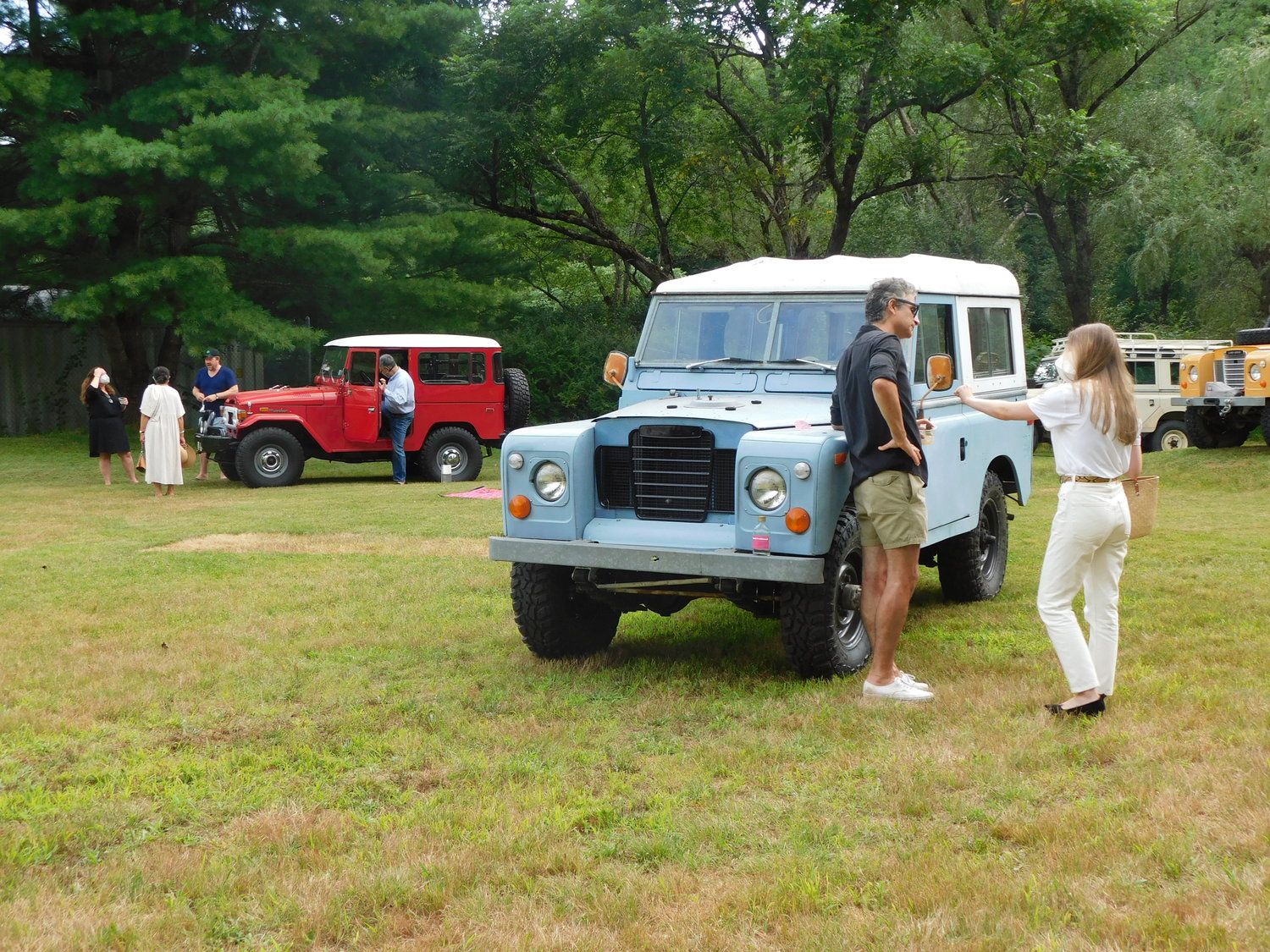 A 1962 Land Rover is in good company with other classic cars on the grounds of Churchill Classics.