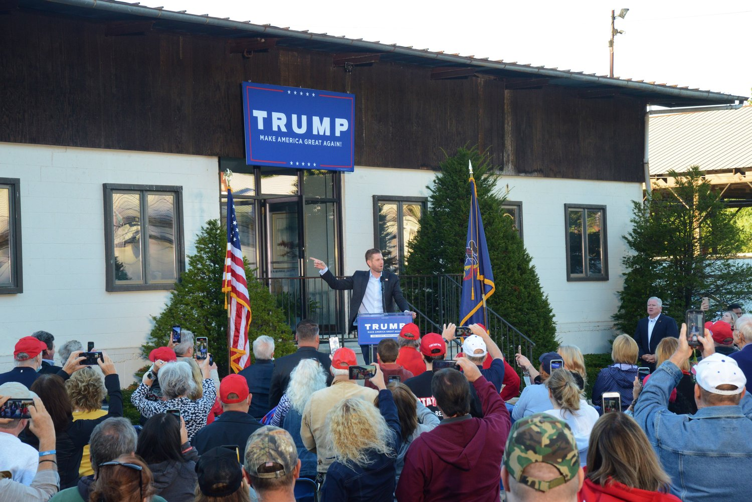 St Judes And Eric Trump Christmas 2020 Eric Trump speaks in Milford | The River Reporter