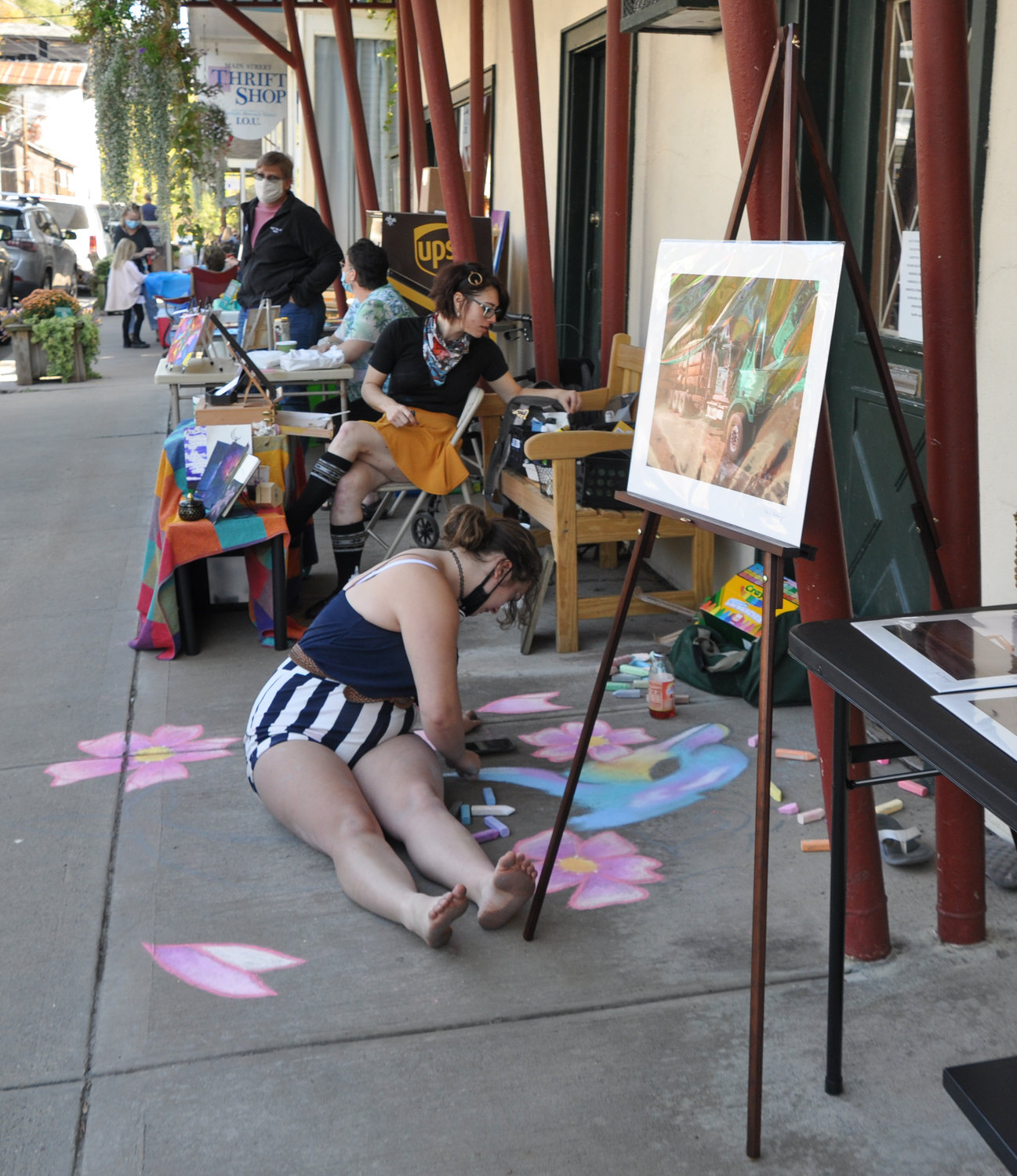 Artists lined the streets of Callicoon, NY last weekend where I observed some hard at work—from a distance, of course.