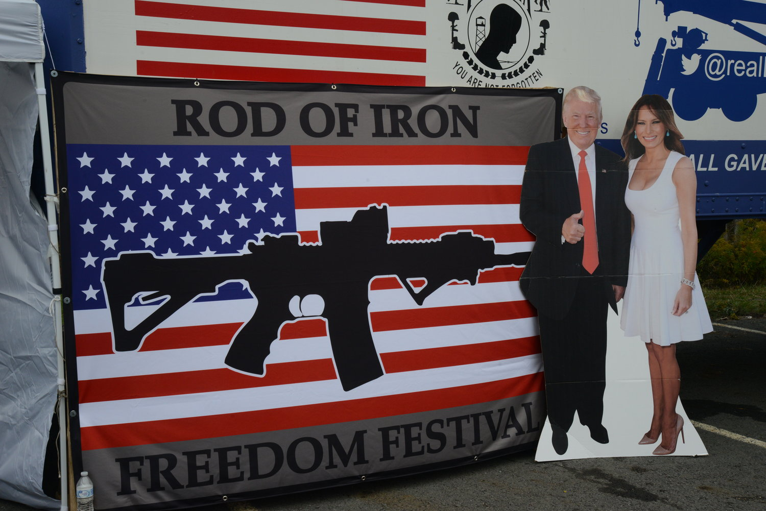 The Rod of Iron Freedom Festival was fraught with political rhetoric and imagery.