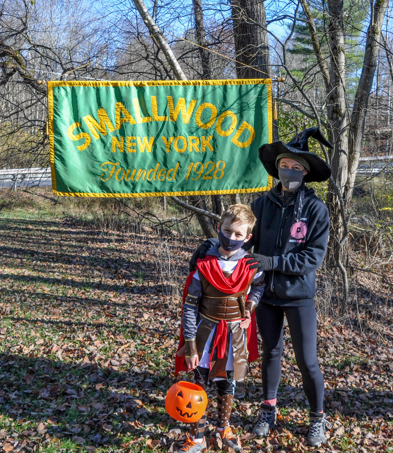 Gladiators, some Spidermen and a few witches were portrayed by kids enjoying the COVID-safe Halloween walk around Smallwood Lake last weekend.