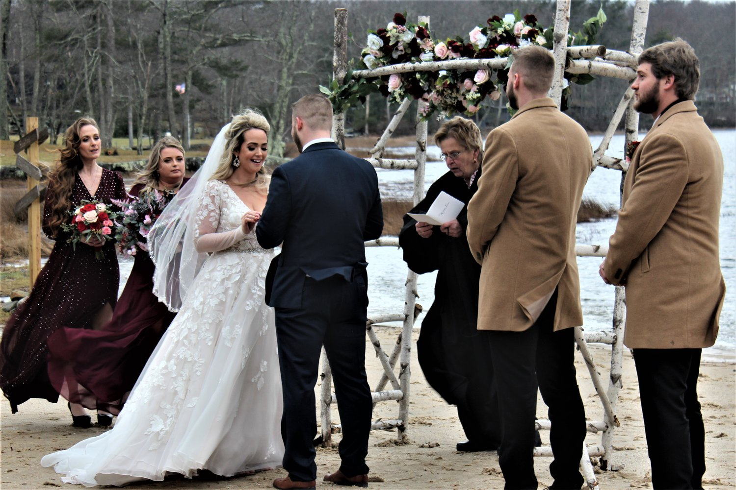 Megan Payne and Joe Gorton ended the year by exchanging wedding vows on New Year's Eve. It was a positive way to end a challenging year.