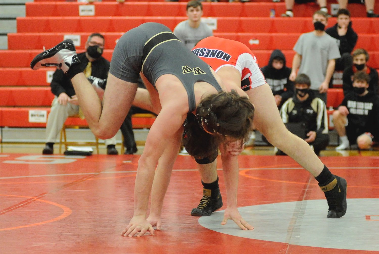"Honesdale's Tim Dailey won by a 11-7 decision over Kasen Taylor of Western Wayne on Friday, January 29 at ""The Home of the Hornets."" The Hornets posted a 50-21 victory in their first game of the season."