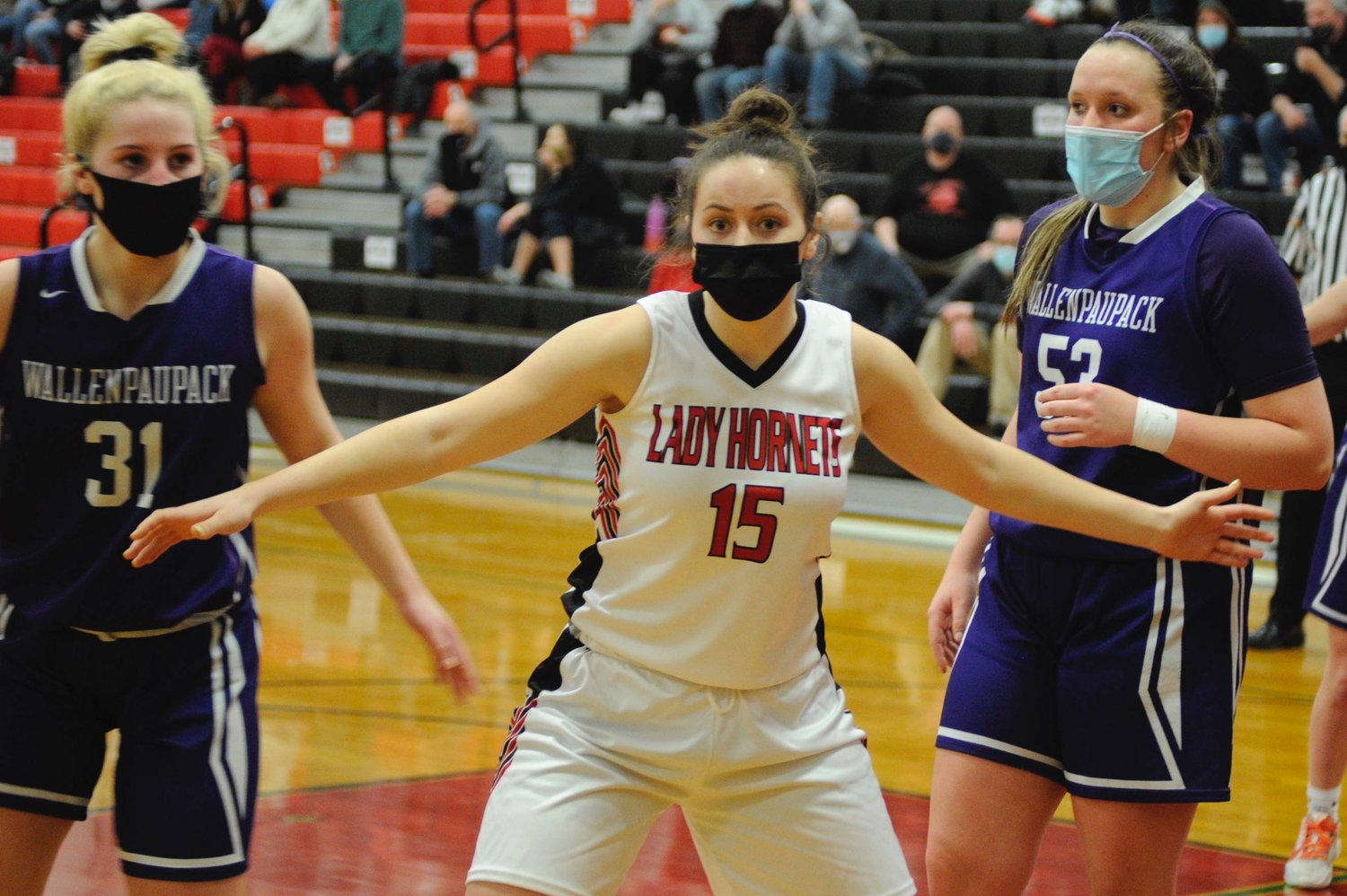 Guardian of the glass. Honesdale's senior co-captain Grace Maxson started on the hardwood at Preston in the sixth grade. In Friday's game against the Lady Buckhorns, she posted 12 points.
