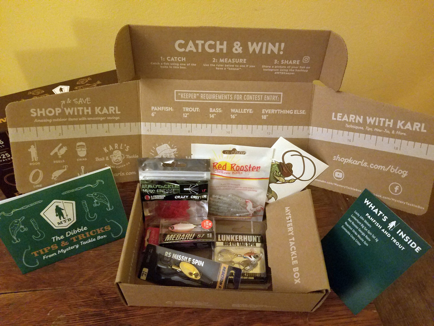 You can quickly collect lots of interesting tackle from a subscription box service.