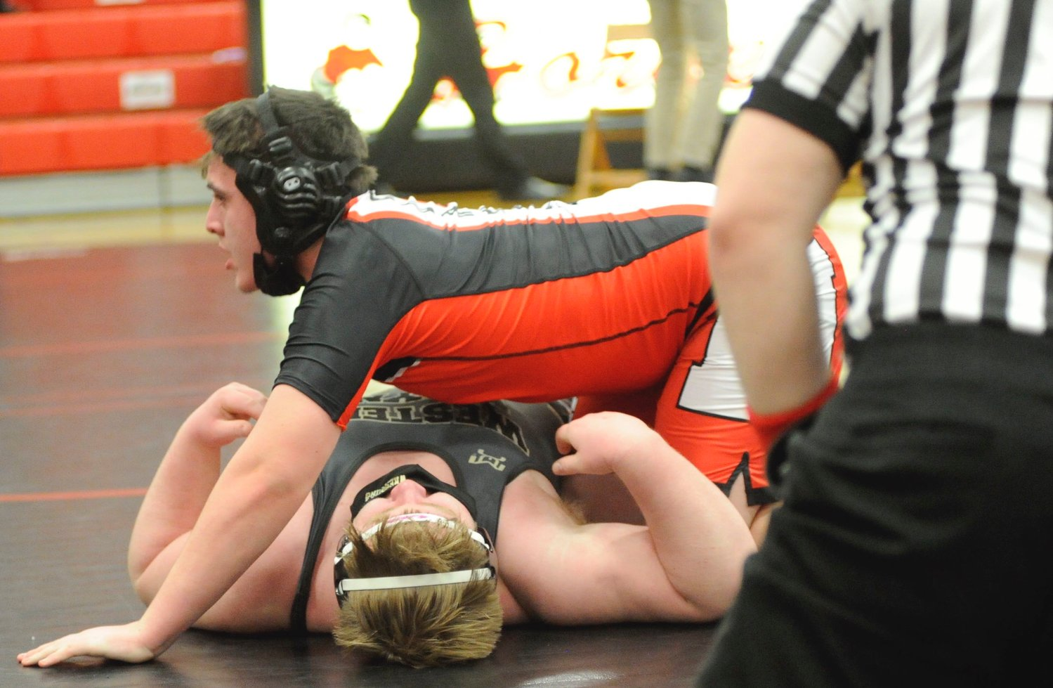In bout #5, Honesdale's Arron Phillips defeated his opponent in the 285-pound weight class.