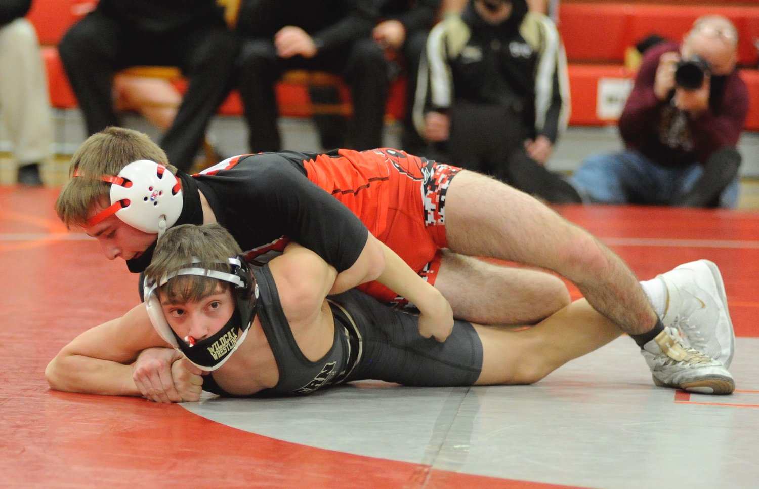 In bout #6, Honesdale's Tristyn Bodie won by fall in the 126-pound weight class. Bodie was a district finalist.