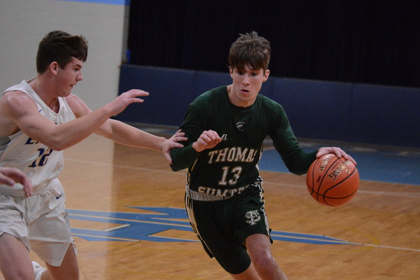 Thomas Sumter's Sam Lawing (13) scored seven points in the Generals' 61-23 loss to Pee Dee on Satursday.