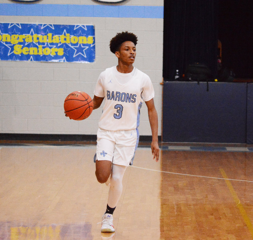 Wilson Hall's Kaleb Porter and the Barons lost to Augusta Christian 64-56 in the SCISA 3A playoffs on Saturday.