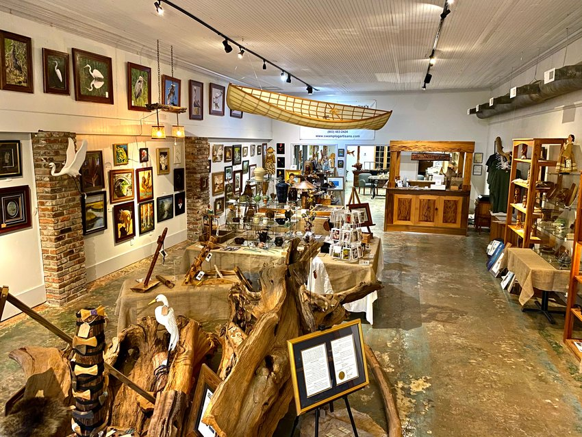 PHOTOS PROVIDEDThe Swamp Log Artisans Gallery features photography, paintings and handmade quality crafts made by different artisans. The store announced it is reopening on March 2 after several weeks of being closed.