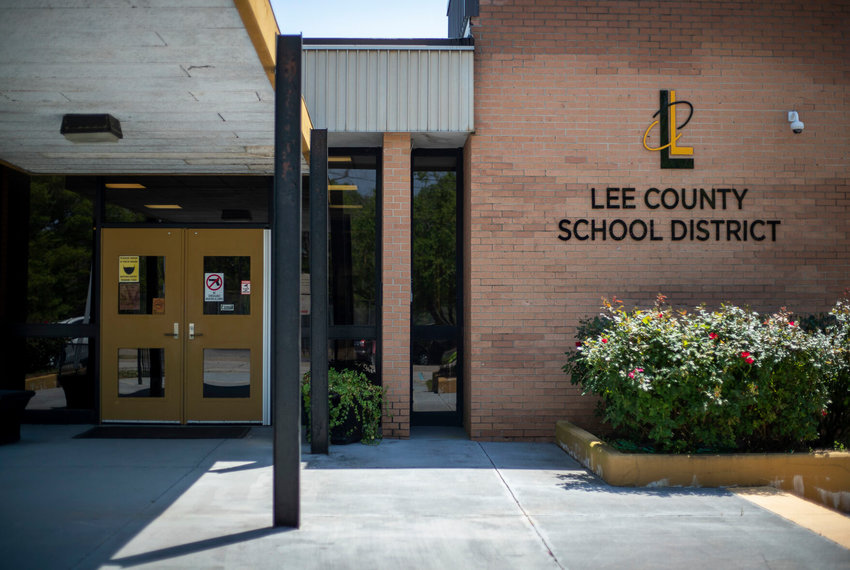 The Lee County School District office is located in downtown Bishopville Tuesday April 13, 2021.